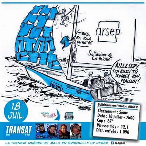 Les dessins de la Transat Québec/Saint-Malo